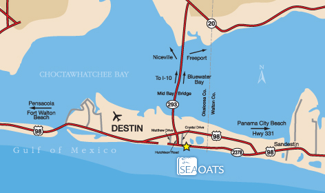 Where Are You Flying This Summer? - Sea Oats Motel in Destin on pensacola beach, st. petersburg florida map, florida panhandle, usa map, vero beach florida map, okaloosa county, florida panhandle map, panama city beach, tampa map, key west, fort walton beach, florida state map, daytona beach map, panama city, myrtle beach florida map, clearwater florida on a map, miami florida map, spring hill florida map, st. augustine, gulf shores, miramar beach florida map, watersound florida map, sarasota map, perdido key map, stuart florida map, crestview florida map, palm coast florida map, miramar beach, eglin air force base, weston florida map, melbourne florida map,