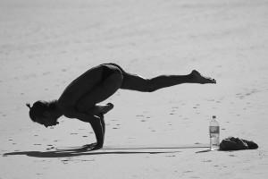 Beach yoga at Sea Oats Motel.