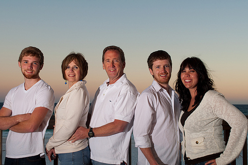 SUmmer & Family at the Sea Oats Motel.