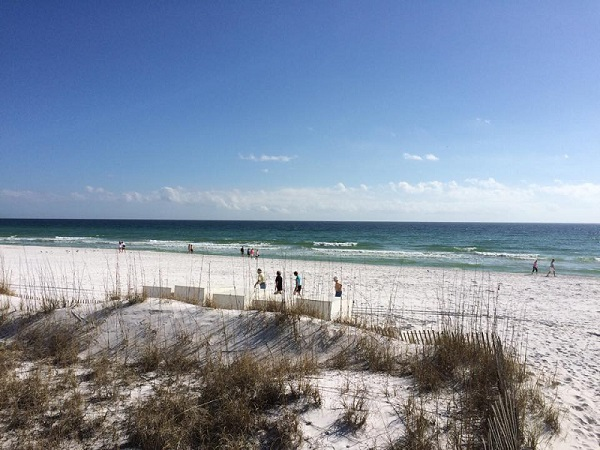 The view from the Sea Oats Motel in Destin, FL